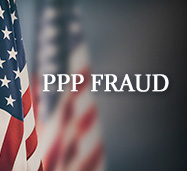 U.S. Flag With the Words PPP Loan