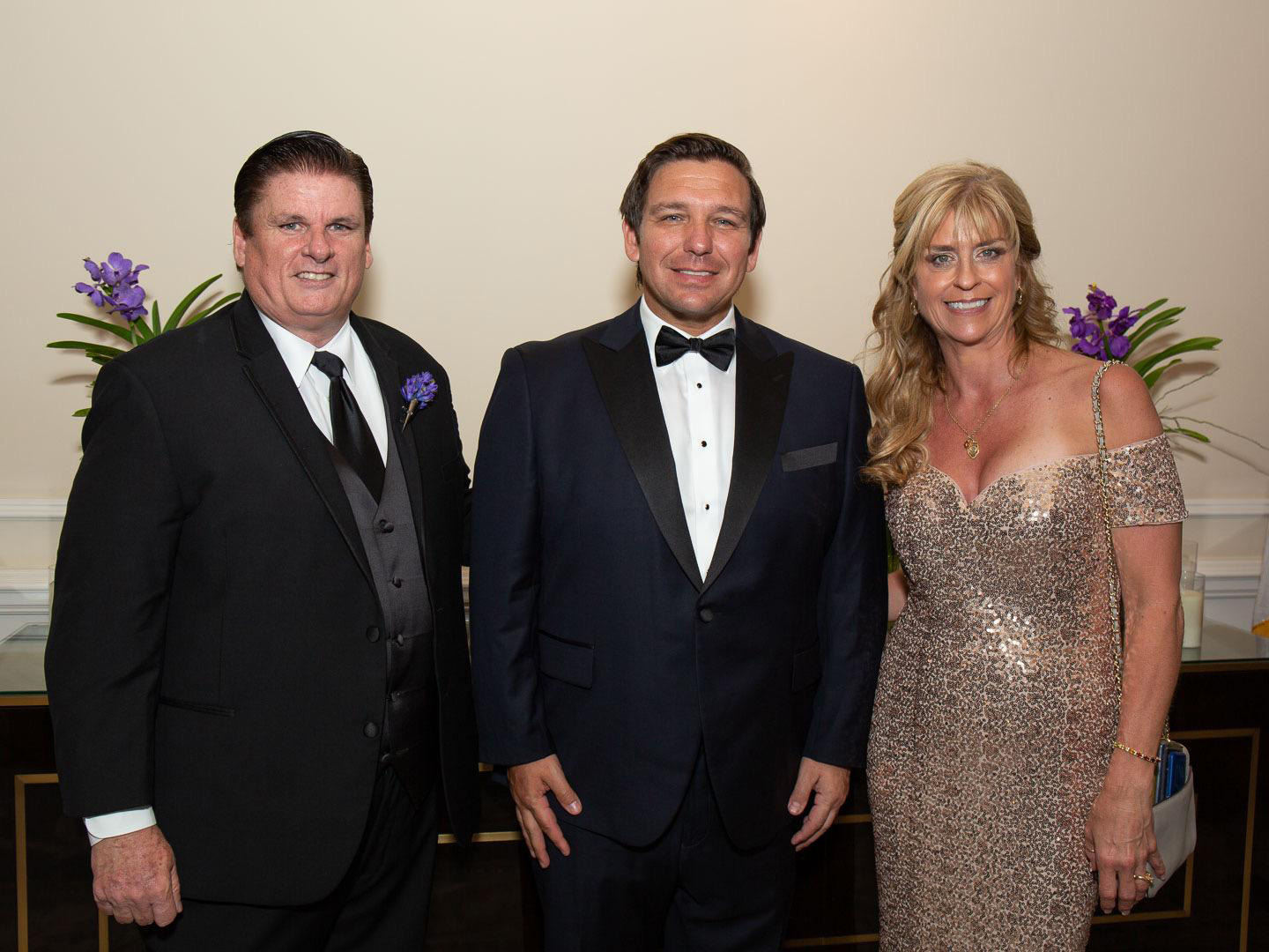 Steadman Stahl, President of Dade County PBA, Governor of Florida Ron DeSantis, & Cindy McMillan