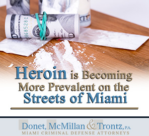 Picture of Heroin for Blog Post -  Drug Possession Charges in Miami