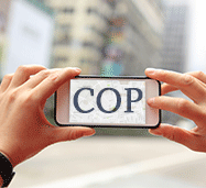 Picture of Cop App User. Learn How This Will Affect Florida Criminal Law.