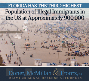Picture of Florida. The State with The Third Highest Population of Illegal Immigrants in the US.